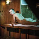 Abraham García desnudo y pillado en la sauna
