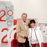 Arturo Fernández y Concha Velasco en el 20 aniversario de 'Cine de barrio'