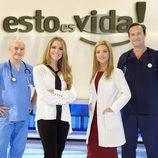 Cristina Lasvignes y los tres médicos especialistas posan en la presentación de 'Esto es vida'
