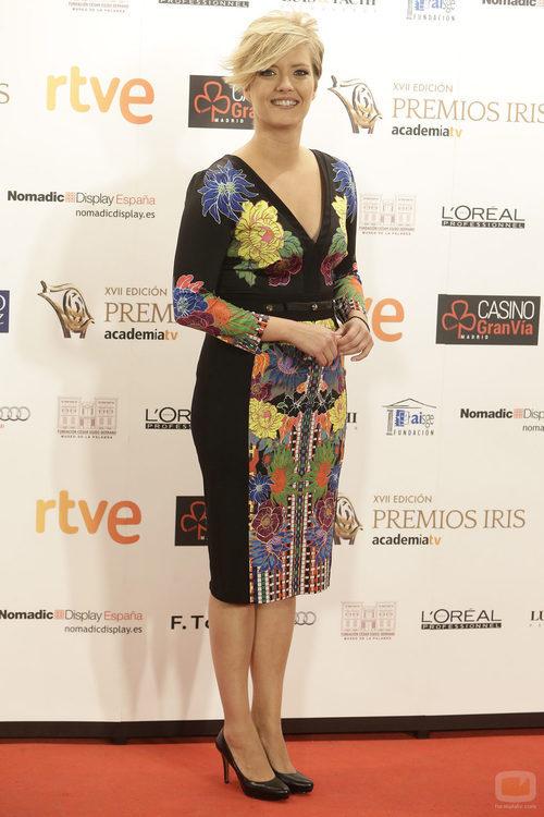 María Casado posa en la alfombra de los Premios Iris 2015