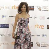 Elena Sánchez, con un gran vestido, posó en los Premios Iris 2015