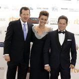 Carlos García Hirschfeld, Marta Solano y Jorge Sanz en los Premios Iris 2015