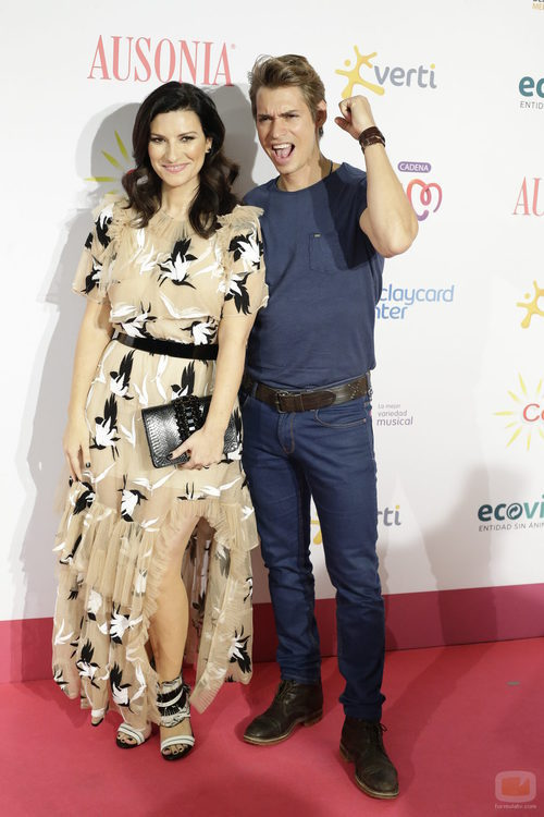 Laura Pausini y Carlos Baute en 'Cadena 100 por ellas'