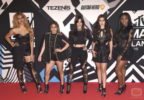 El grupo Fith Harmony en los premios 'MTV EMAs 2015'