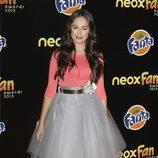María Parrado en la alfombra naranja de los Neox Fan Awards 2015