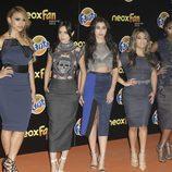 Las Fifth Harmony en la alfombra naranja de los Neox Fan Awards 2015