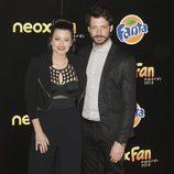 Adriana Torrebejano y Álvaro Morte en los Neox Fan Awards 2015