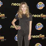 Charlotte Vega en la alfombra naranja de los Neox Fan Awards 2015