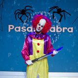 El actor José Lamuño se disfraza de payaso asesino en el especial de Halloween de 'Pasapalabra'