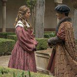 Isabel de Portugal y Francisco de Borja en los jardines de la Alhambra en 'Carlos, Rey Emperador'