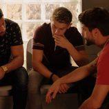 Lucas, Fernando Rueda y Salva en 'Mar de plástico'