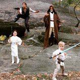 Neil Patrick Harris y su familia disfrazados de 'Star Wars'