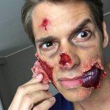 Carlos Baute quitándose el maquillaje de Halloween 2015