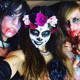 Melissa Jiménez se disfrazo con sus amigas para Halloween 2015