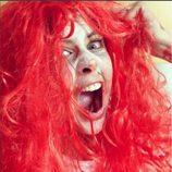 Elisabeth Reyes y su super peluca de Halloween 2015