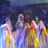 Amanda entre los zombies en la octava gala de 'Gran Hermano 16'