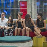 Carlos, Ivy, Carolina, Marta y Sofía en 'Gran Hermano 16'