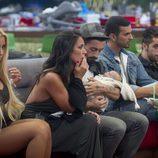 Amanda, Raquel, Aritz con su bebé robot, Suso y Vera en 'Gran Hermano 16'