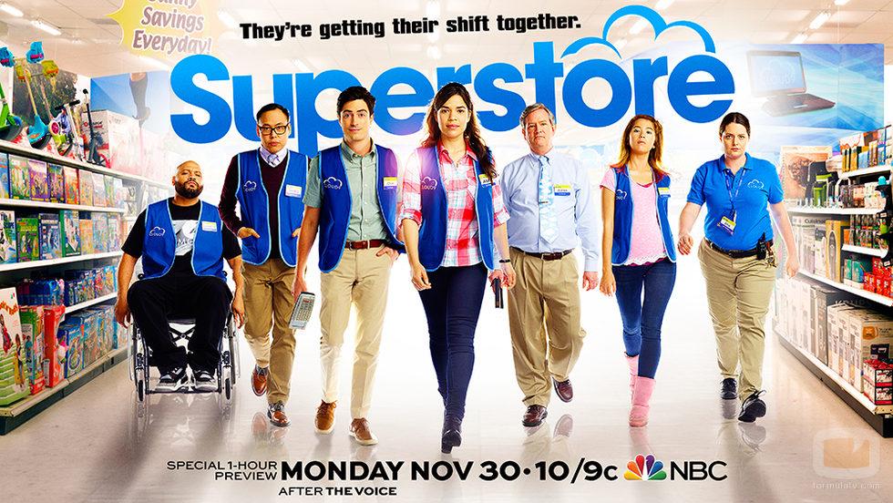 Cartel oficial del estreno de 'Superstore'