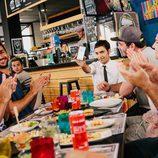 Antonio Díaz junto a los compañeros de Ricky Rubio en 'El Mago Pop: 48 horas con Ricky Rubio'