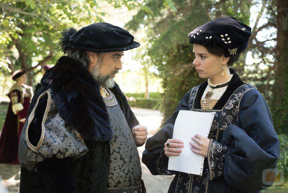Fadrique de Alba con María de Austria en 'Carlos, Rey Emperador'