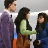 Christopher Gorham, Ana Ortiz y America Ferrera en 'Ugly Betty'