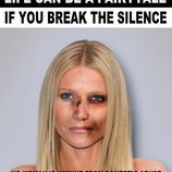 "Gwyneth Paltrow golpeada para ""Break the silence"""