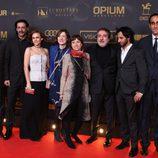 Nacho Fresneda, Aura Garrido, Javier Olivares y el resto del equipo de los Premios Ondas 2015