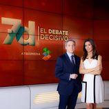 Vicente Vallés y Ana Pastor en '7D: el debate decisivo'