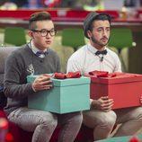 Han y Aritz con la gran caja en 'Gran Hermano 16'