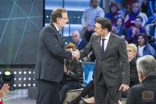 Mariano Rajoy con Iñaki López en 'LaSexta Noche'