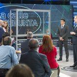 Mariano Rajoy en el centro del plató de 'LaSexta Noche'