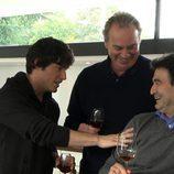 Pepe Rodríguez, Jordi Cruz y Bertín Osborne en la cocina de 'En la tuya o en la mía'