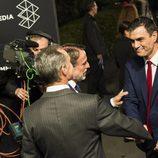 Pedro Sánchez llegando a los estudios de Atresmedia para asistir a '7d: el debate decisivo'