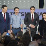 Los representantes políticos posan para los medios en '7d: el debate decisivo'
