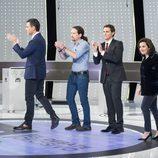 Los representantes de los partidos aplauden en '7d: el debate decisivo'