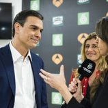 Pedro Sánchez comentando sus impresiones tras '7d: el debate decisivo'