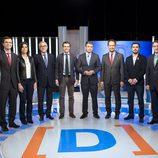 Julio Somoano y los nueve debatientes
