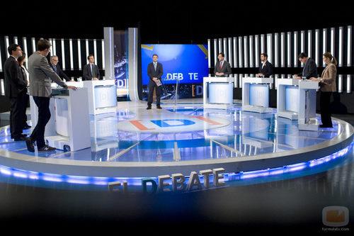 Los nueve participantes del debate  de La 1