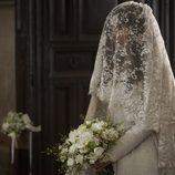 Margarita con el traje de novia