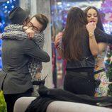 Han y Aritz, Marta y Niedziela  se abrazan en 'Gran Hermano 16'