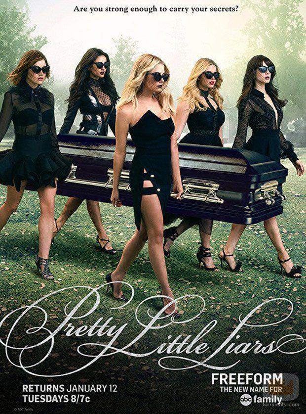 Cartel promocional de la temporada 6B de 'Pretty Little Liars'