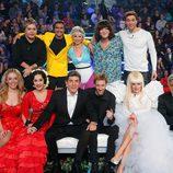 Concursantes de 'Tu cara me suena' con Manel Fuentes