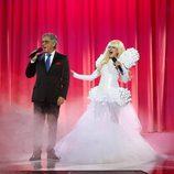 Silvia Abril y Andreu Buenafuente en la décimo cuarta gala de 'Tu cara me suena'