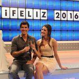 Jorge Fernández y su fiel acompañante en un programa especial de 'La ruleta de la suerte'