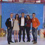 Christian Gálvez junto con Almudena Cid, Ana García Siñeriz, Carlos Hipólito y Jesús Vázquez en 'Pasapalabra'