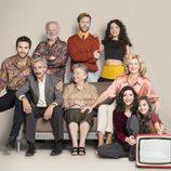 La familia posa al completo en la 17ª temporada de 'Cuéntame cómo pasó'