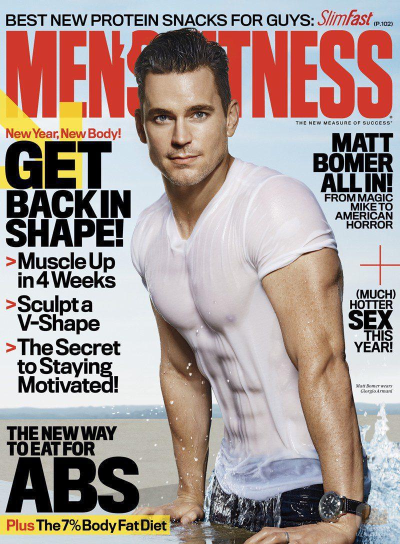 Matt Bomer en la portada de Men's Fitness