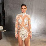 Posado de Cristina Pedroche con el vestido que lució en las Campanadas 2015