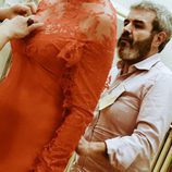 Escote del vestido de Anne Igariburu
